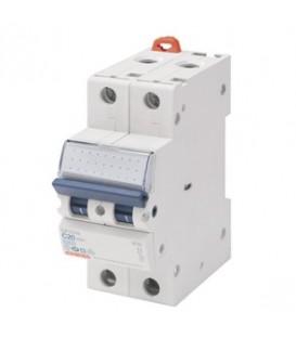Gewiss Модульный автоматический выключатель серии MT 60, 20 А, 2P, 6кА, характеристика C