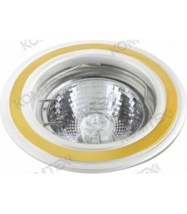 Comtech Corona Светильник галогеновый встраиваемый HR51 1x50W GU5.3 никель/золото/никель
