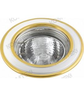 Comtech Corona Светильник галогеновый встраиваемый MR16 1x50W GU5.3 золото/никель/золото