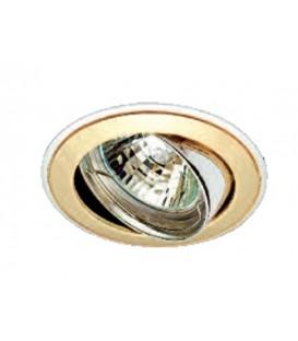 Comtech Corona Светильник галогеновый встраиваемый повор.HR35 1x35W GU4 золото/никель/золото