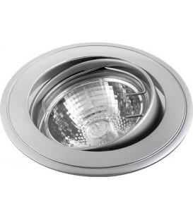 Comtech Corona Светильник галогеновый встраиваемый повор.HR51 1x50W GU5.3 мат.хром/хром/мат.хром