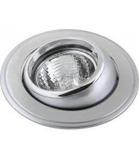 Comtech Corona Светильник галогеновый встраиваемый повор.MR16 1x50W GU5.3 никель/золото/никель