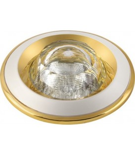 Comtech Cryst Светильник галоген. встраиваемый HR51 1x50W GX5.3 HR 51 полусфера,золото/никель/золото