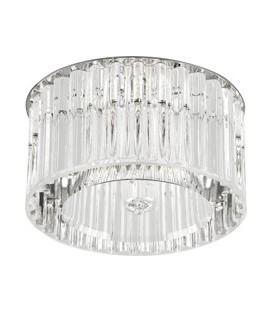Comtech CRYST Светильник точечный неповоротн с огранен стеклом,75Вт,G9, IP20, 220В, хром
