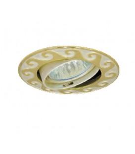Comtech Ellada Светильник галогеновый встраиваемый круг. литье HR51 1x50W GU5.3 состаренная медь
