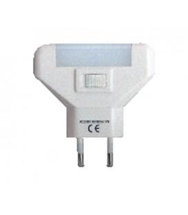 Comtech GLOW Светильник-ночник с КЛЛ (голубая), 1Вт, с выключателем, 220 В, белый