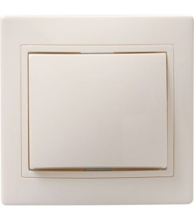 ВСк10-1-0-ККм Выключатель 1кл кноп. 10А КВАРТА (кремовый)