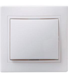 ВСп10-1-0-КБ Выключатель 1кл проход. 10А КВАРТА (белый)