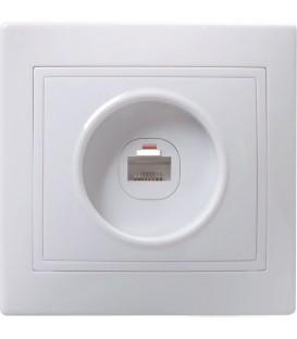 РТ10-КБ Розетка 1местн. телефонная КВАРТА (белый)