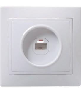 РК10-КБ Розетка 1местн. комп. КВАРТА (белый)