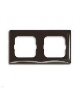 Рамка двойная ABB Basic 55, цвет шато-черный