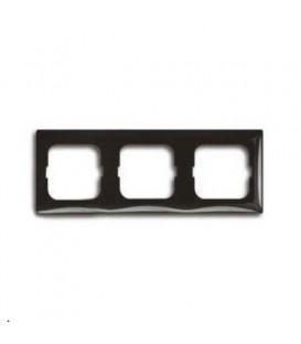 Рамка трехместная ABB Basic 55, цвет шато-черный