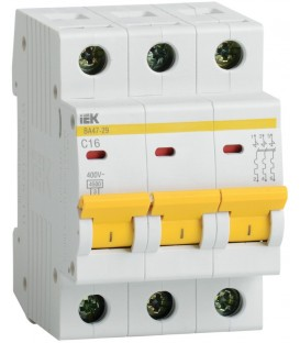 IEK Автоматический выключатель ВА47-29 3Р 10А 4,5кА х-ка С