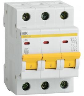 IEK Автоматический выключатель ВА47-29 3Р 16А 4,5кА х-ка С