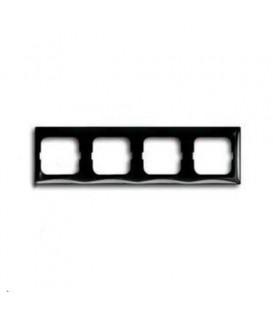 Рамка четырехместная ABB Basic 55, цвет шато-черный