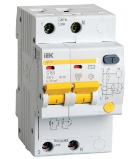 IEK Дифференциальный автомат АД12М 2Р С32 30мА