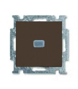 Переключатель одноклавишный с подсветкой ABB Basic 55, шато-черный