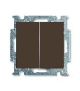 Переключатель двухклавишный ABB Basic 55, шато-черный