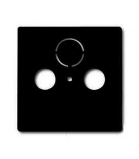 Розетка ТВ + радио оконечная Jung с лицевой панелью Abb Basic 55, шато-черный