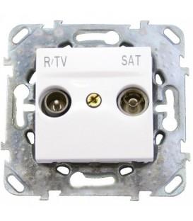 Розетка телевизионная оконечная TV SAT FM, диапазон частот от 4 до 2400 MГц