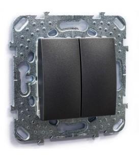 Выключатель двухклавишный, 10 А / 250 В~