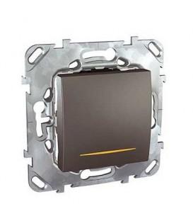 Выключатель одноклавишный с подсветкой, 10 А / 250 В~
