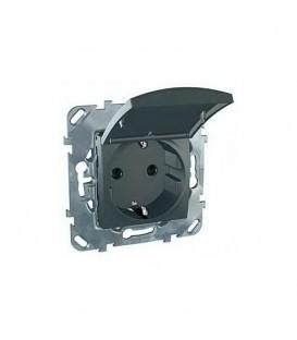 Розетка с заземляющими контактами 16 А / 250 В~, с откидной крышкой