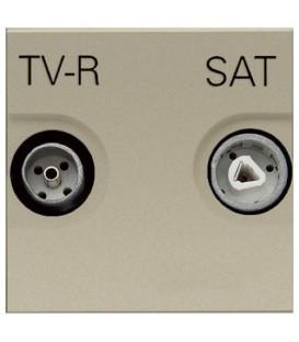 Розетка TV-R/SAT оконечная ZENIT (шампань)