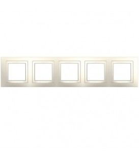 Рамка 5-я Unica Кремовый глянцевый