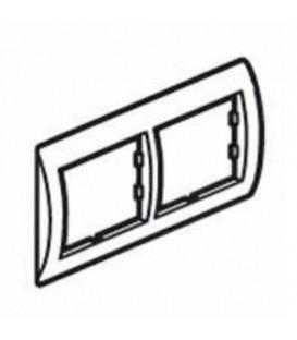 Рамка 2-я Unica Белый/Бронза