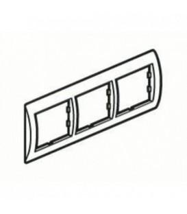 Рамка 3-я Unica Белый/Бронза
