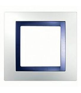 Рамка 1-я Unica Белый/Индиго