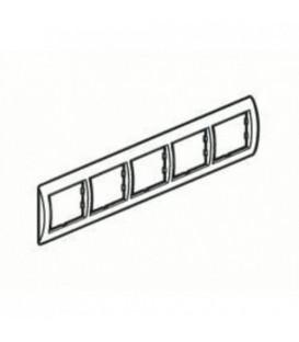 Рамка 5-я Unica Белый/Серебро