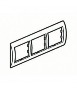 Рамка 3-я Unica Белый/Терракота