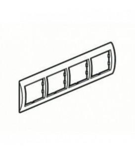 Рамка 4-я Unica Белый/Серебро
