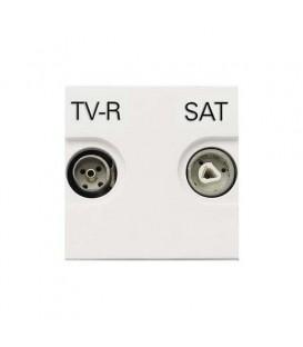 Розетка TV-R/SAT проходная ZENIT (Белый)