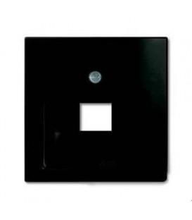 Розетка телефонная Jung (RJ-11/12) 1 разъем ABB Basic 55, шато-черный