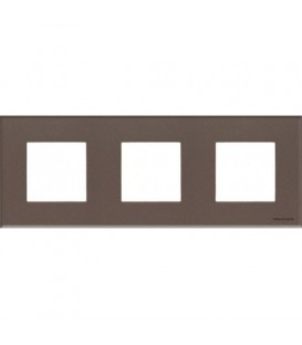 Рамка 3 поста по 2 модуля ABB Zenit, немецкий стандарт (кофейное стекло)