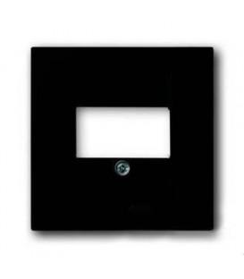 Розетка акустическая ABB Basic 55, шато-черный, цвет механизма черный