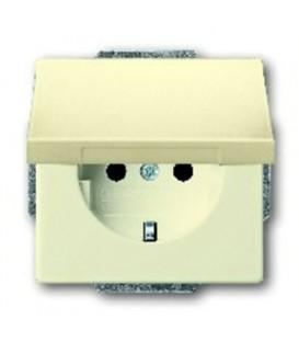 Розетка электрическая ABB с крышкой (слоновая кость)